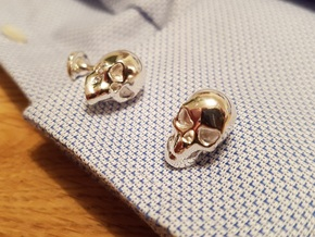 Skull Cufflinks in Polished Silver