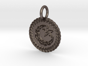 Nytemyre Pendant in Polished Bronzed Silver Steel
