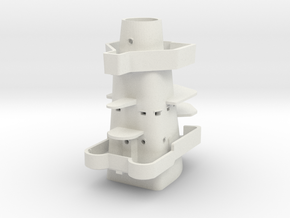Best Cost 1/192 USN BB59 Tower above MK51 Platform in White Natural Versatile Plastic