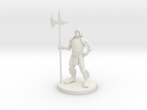 Triton with Halberd in White Natural Versatile Plastic