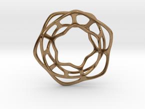 Hex Möbius, 48mm in Natural Brass