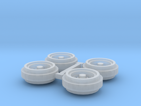 1/64 80s Steel Rims (1 Set) in Smooth Fine Detail Plastic