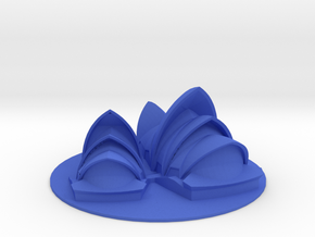 10CM Sydney Opera House Customizable Desk Art in Blue Processed Versatile Plastic
