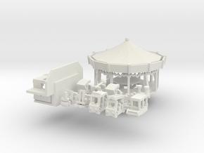 kleines Henneckekarussell - Antrieb 1:220 in White Natural Versatile Plastic