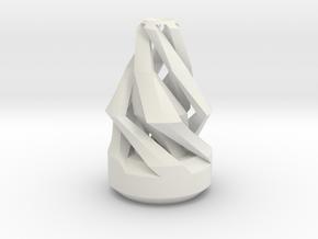 Single Flower Vase in White Natural Versatile Plastic