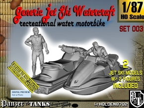 1-87 Generic Jet Ski w Figures Set003 in Smooth Fine Detail Plastic