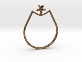Rope walker Ring in Polished Bronze: 9 / 59