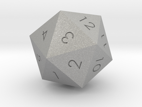 D20 Green Mana Symbol (MTG) in Aluminum: Extra Small