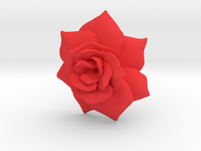 Rose50MM in Red Processed Versatile Plastic