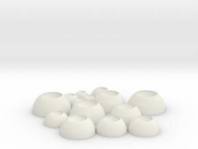 BJD Eye Bases  in White Natural Versatile Plastic