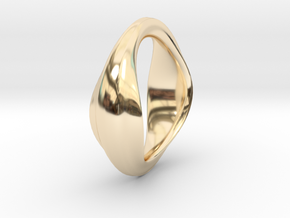 The Very Beginning in 14k Gold Plated Brass: Small