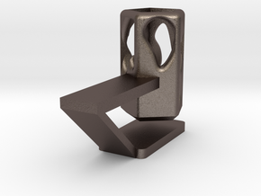 Pencil Holder in Polished Bronzed Silver Steel