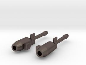 Blurr Jet Blasters in Polished Bronzed Silver Steel