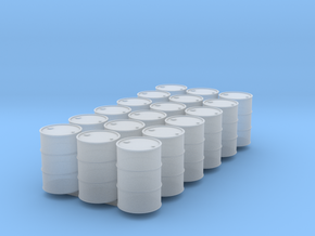 18 HO scale oil drums in Smooth Fine Detail Plastic