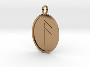 Aesc Rune (Anglo Saxon) in Polished Brass
