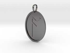 Ac Rune (Anglo Saxon) in Polished Nickel Steel