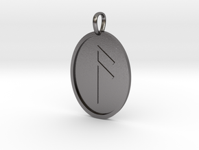 Aesc Rune (Anglo Saxon) in Polished Nickel Steel