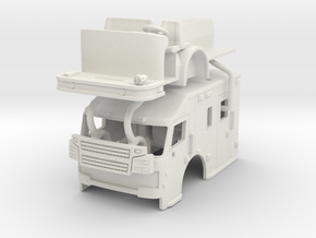 1/87 Rosenbauer Medical Transport cab in White Natural Versatile Plastic
