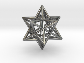 Small stellated dodecahedron in Polished Silver