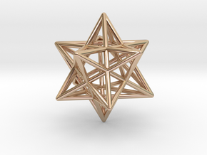 Small stellated dodecahedron in 14k Rose Gold