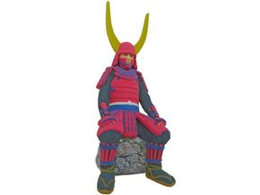 "Japanese Samurai ""Naomasa Ii"" in Full Color Sandstone"