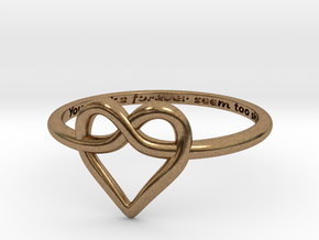 Infinity Love Ring in Natural Brass: 5 / 49