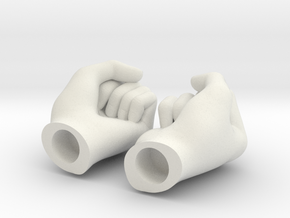 Fists 1:6 scale in White Natural Versatile Plastic
