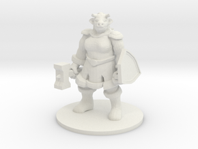 Female Minotaur Warrior in White Natural Versatile Plastic