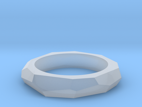 faceted ring in Smoothest Fine Detail Plastic
