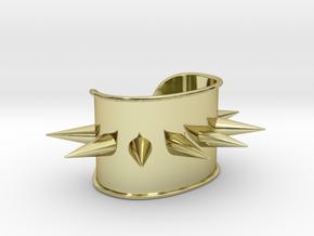 Harley Quinn Spiked Cuff - Original in 18k Gold Plated Brass