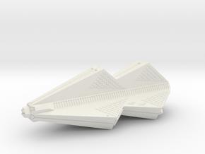 3125 Scale Tholian Pocket Battleship SRZ in White Natural Versatile Plastic