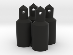 Round Battery/Body Posts (Qty 4) in Black Natural Versatile Plastic
