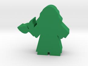 Game Piece, Herbalist in Green Processed Versatile Plastic