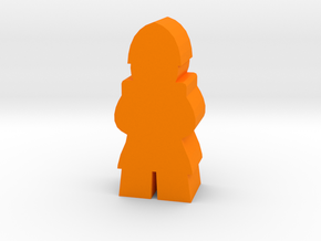 Game Piece, Medieval Soldier, standing in Orange Strong & Flexible Polished