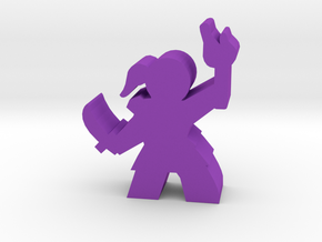 Game Piece, Rogue, torch and knife in Purple Processed Versatile Plastic