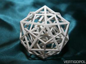 Nested Platonic Solids IDHTO 80mm in White Natural Versatile Plastic