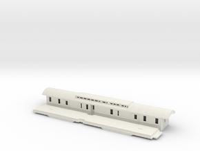 DFo6 - Swedish passenger wagon in White Natural Versatile Plastic