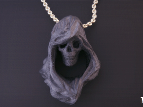 Reaper Pendant in Matte Black Steel
