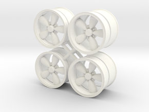 A/R 1/12 200S wheel set 15 inch in White Strong & Flexible Polished