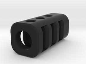 Airsoft barrel protecor - Model A in Black Natural Versatile Plastic