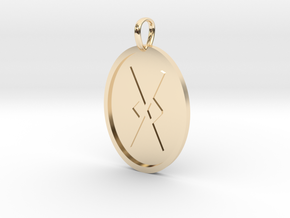 Gar Rune (Anglo Saxon) in 14k Gold Plated Brass