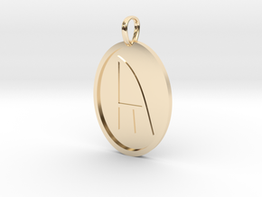 Yr Rune (Anglo Saxon) in 14k Gold Plated Brass
