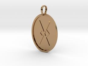 Gar Rune (Anglo Saxon) in Polished Brass