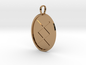 Ing Rune (Anglo Saxon) in Polished Brass