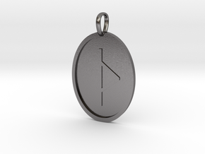 Thorn Rune (Anglo Saxon) in Polished Nickel Steel