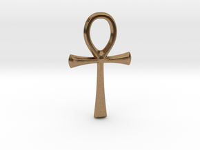 little ankh in Natural Brass