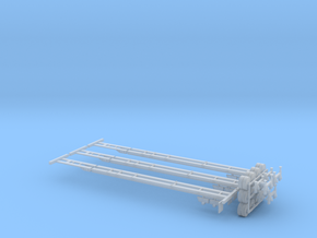 N Intermodal Chassis 3 Pack - Variable Length in Frosted Ultra Detail