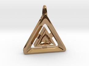 Origin ::: Triangle Pendant ::: v.01 in Polished Brass