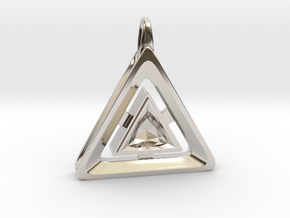 Origin ::: Triangle Pendant ::: v.01 in Rhodium Plated Brass