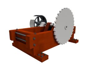 HO scale Circular Saw in Smoothest Fine Detail Plastic